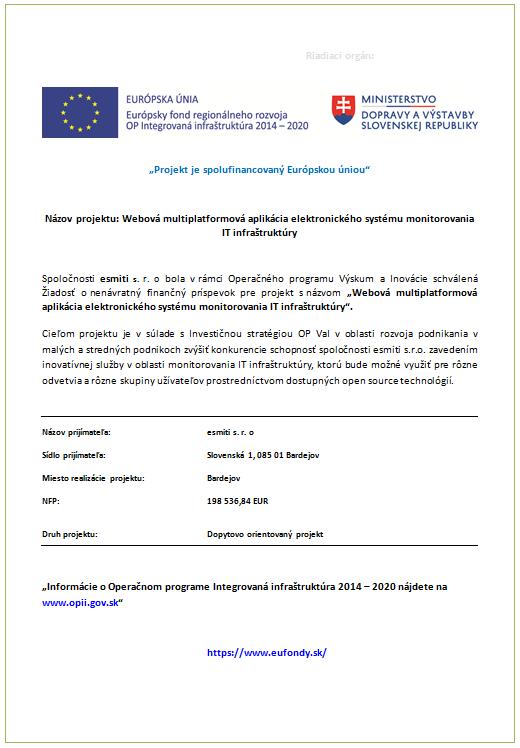 Projekt spolufinancovaný Európskou úniou